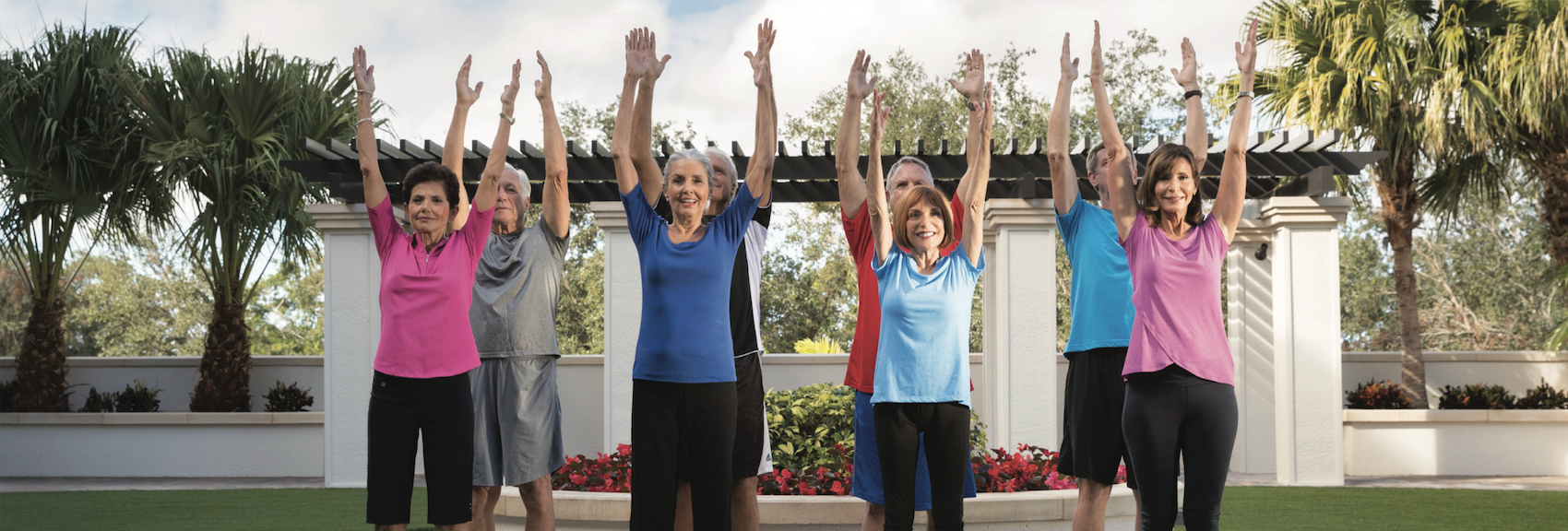 yoga outside of assisted living community